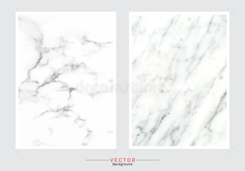Set of cards with gentle marble textures stock illustration