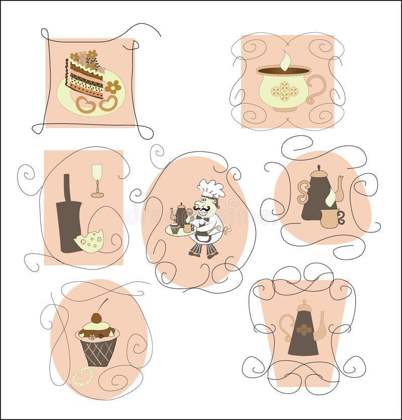 Download Set Cards,labels For Cafes, Restaurants Stock Vector - Illustration: 26045265