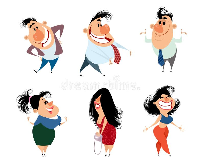 Set of caricature people. Vector illustration of a set of caricature people vector illustration