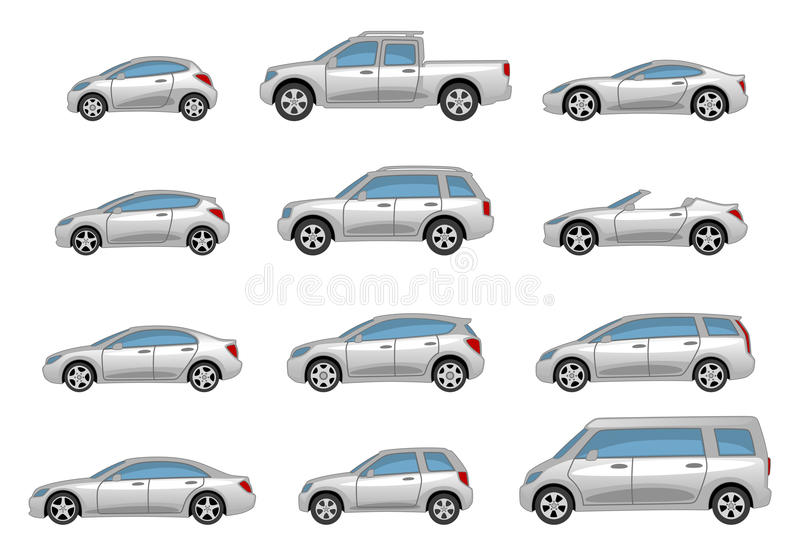 Download Set of cars stock vector. Image of convertible, pickup - 14807038