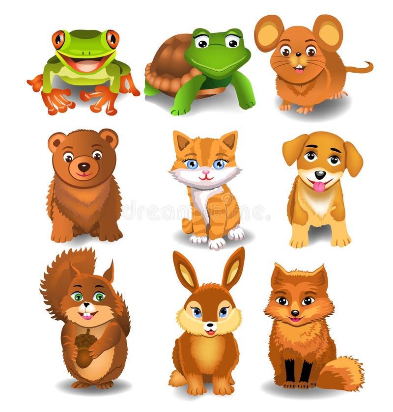 Download Set Of Cartoon Animals Stock Photography - Image: 36756712