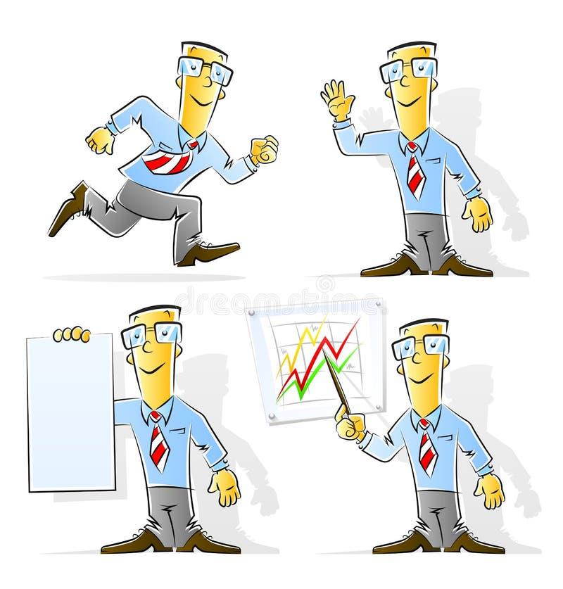 Download Set of cartoon businessman stock vector. Illustration of character - 19472316
