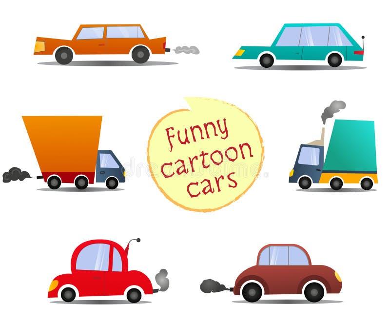 Set cartoon cars royalty free illustration
