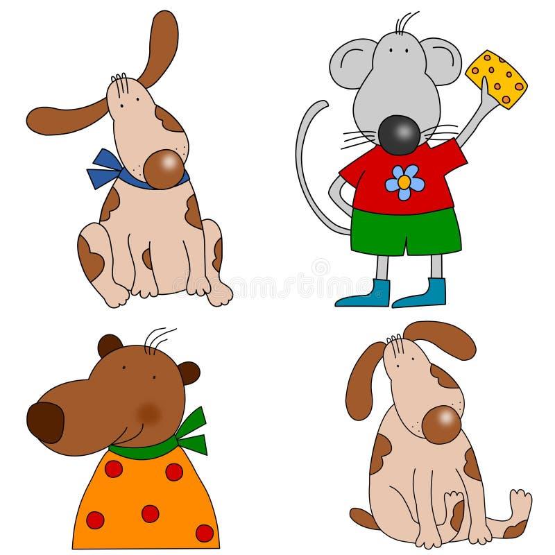 Download Set of cartoon characters stock illustration. Image of school - 21454276