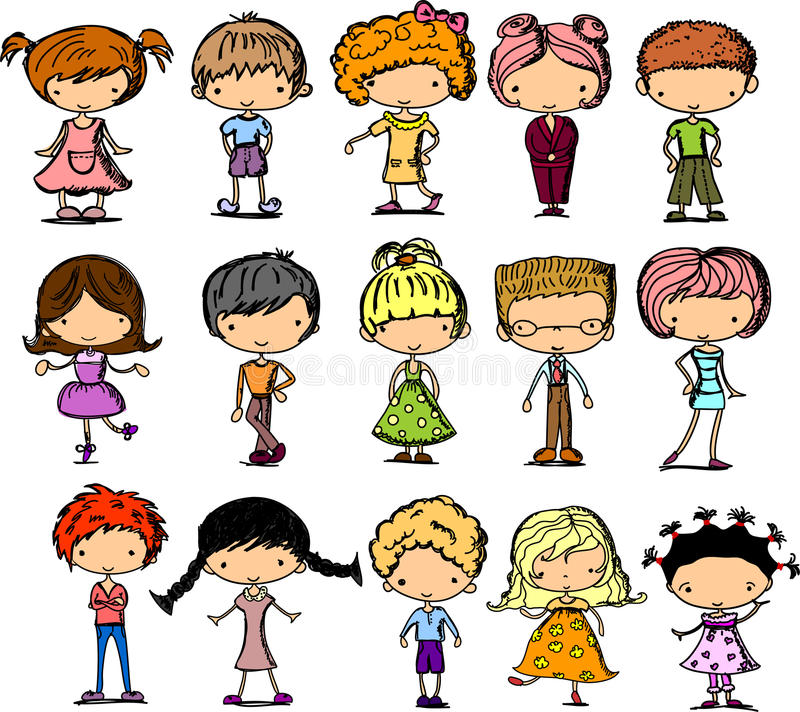 Download Set Cartoon Children,vector Stock Vector - Image: 22035663