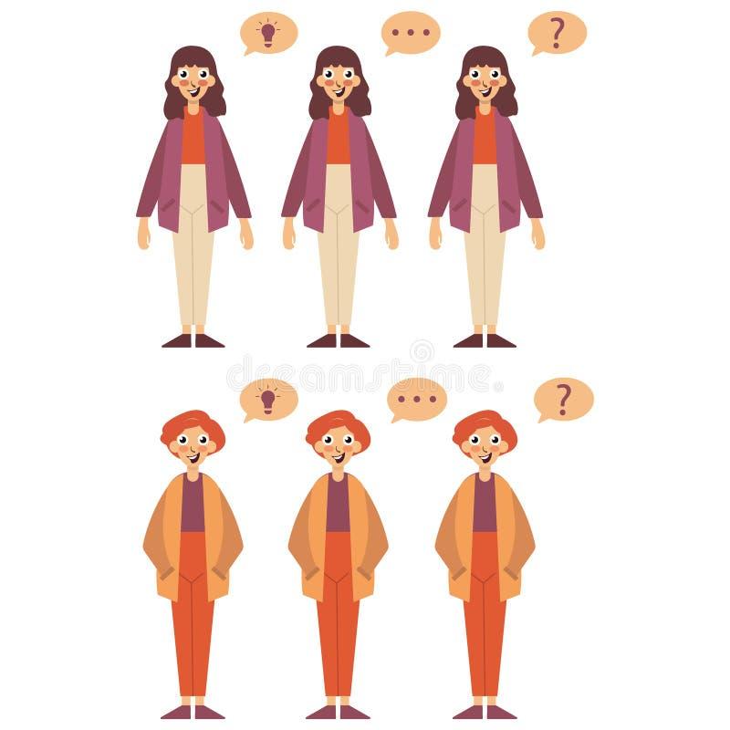 Set of cartoon people vector illustration