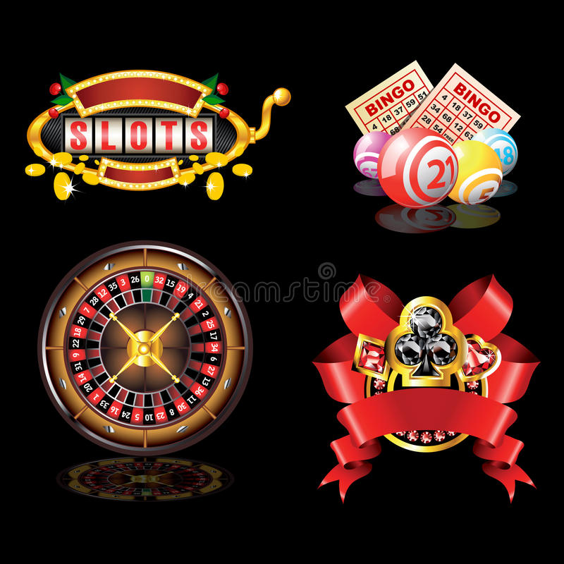 Set of casino`s items royalty free illustration