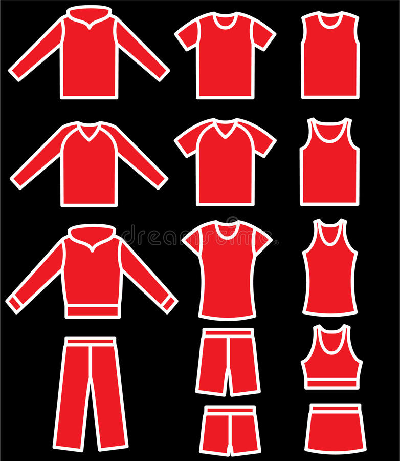 Download Set Of The Casual Wear Royalty Free Stock Photography - Image: 11834197