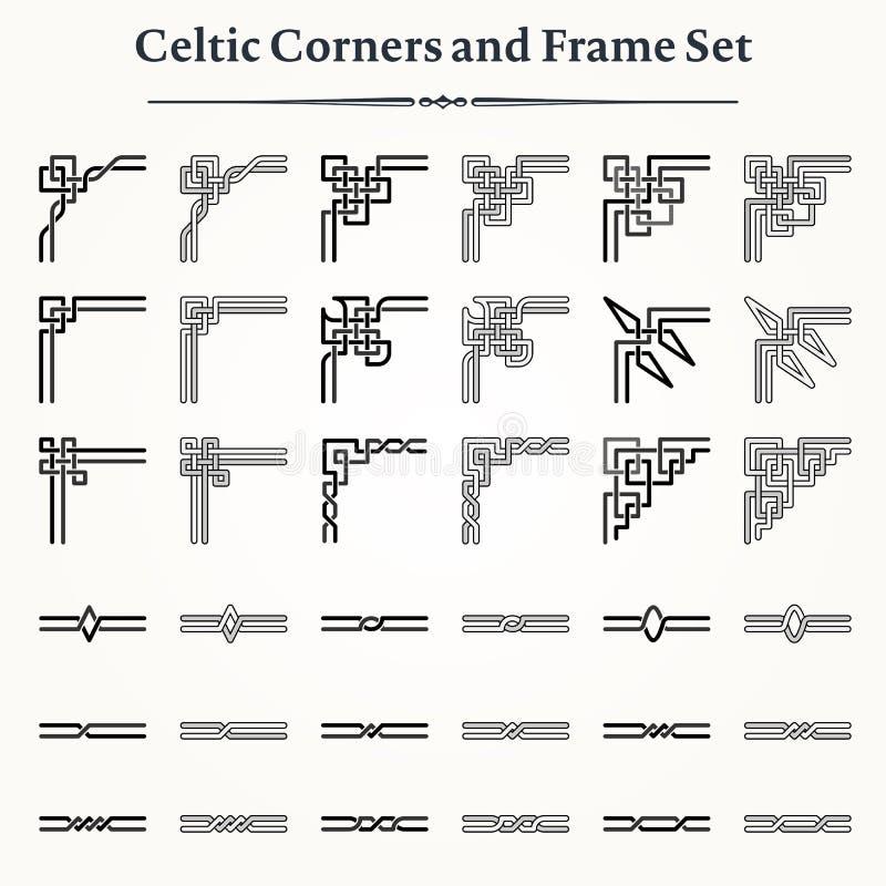 Set celt ramy i kąty royalty ilustracja