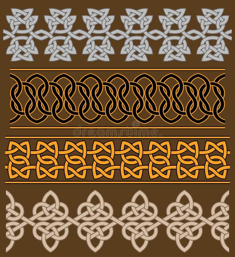 Set of celtic ornaments royalty free illustration