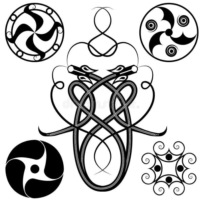 Download Set of celtic patterns stock vector. Image of mythology - 6540588