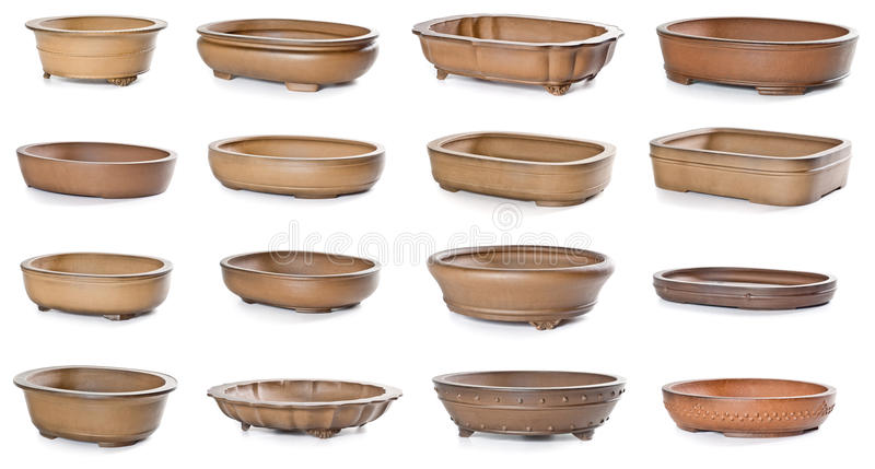 Download Set of ceramic flowerpots stock image. Image of growth - 42461711