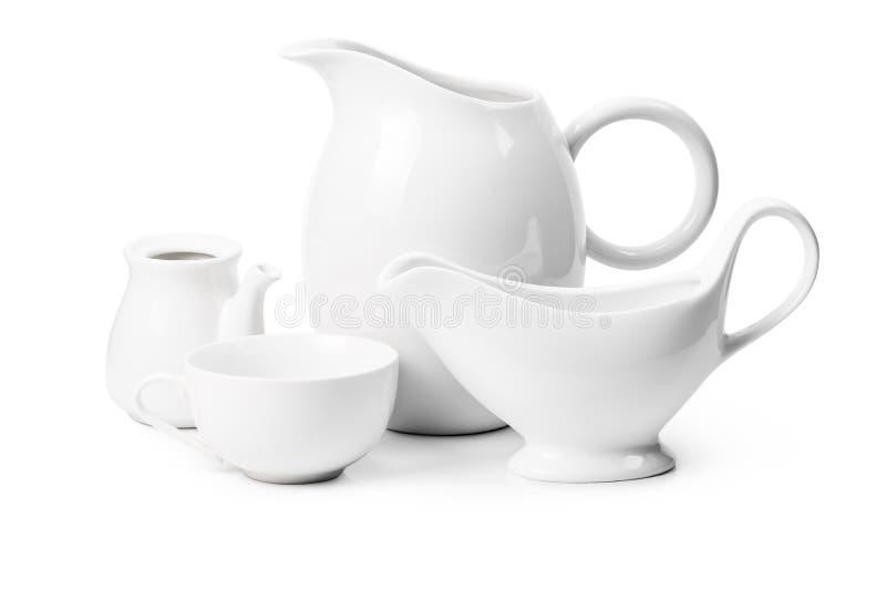 Set ceramiczny artykuły fotografia stock