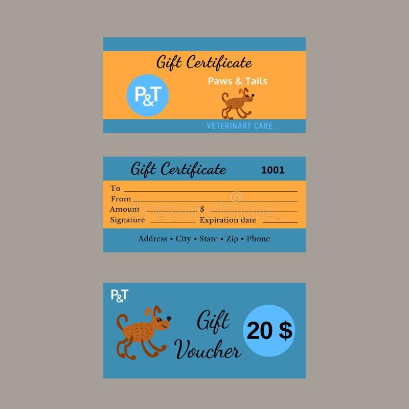 Set Of Certificates Stock Illustration Illustration Of