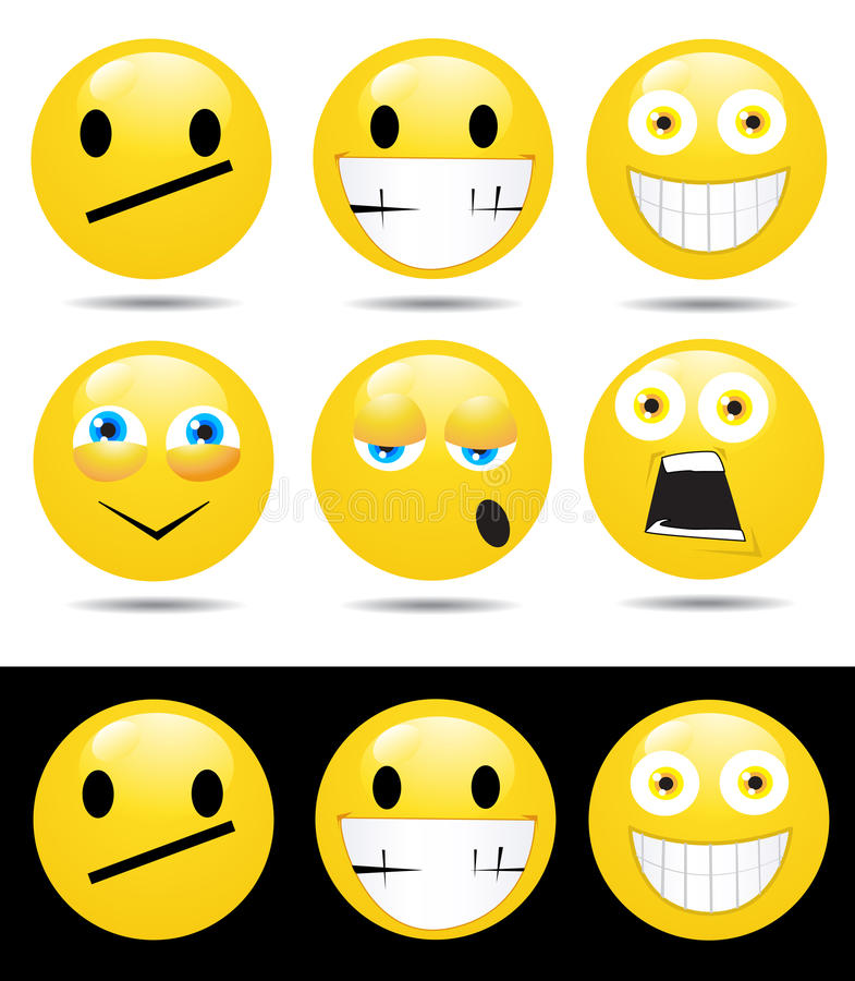 Download Set Of Characters Of Yellow Emotions Stock Vector - Image: 18521652