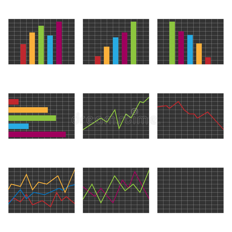Set of charts royalty free illustration
