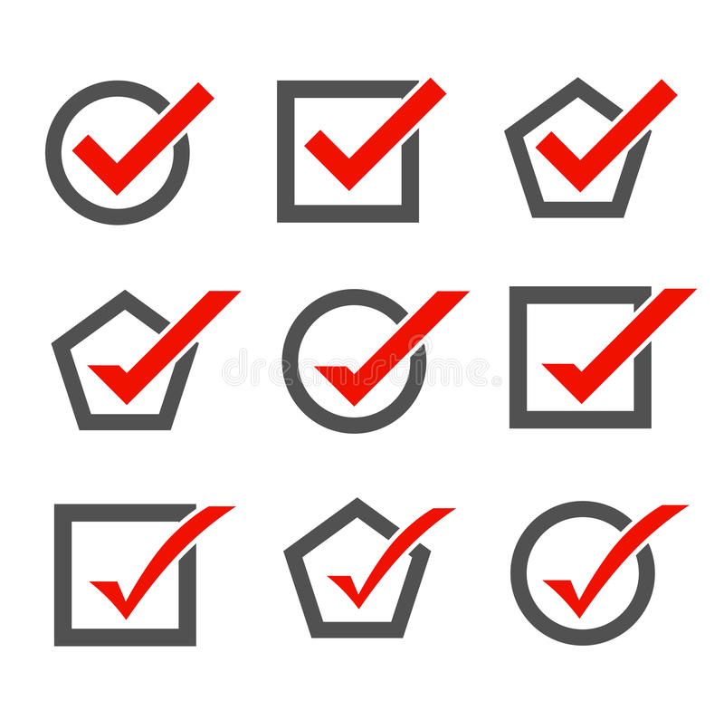 Set of check mark icons vector illustration
