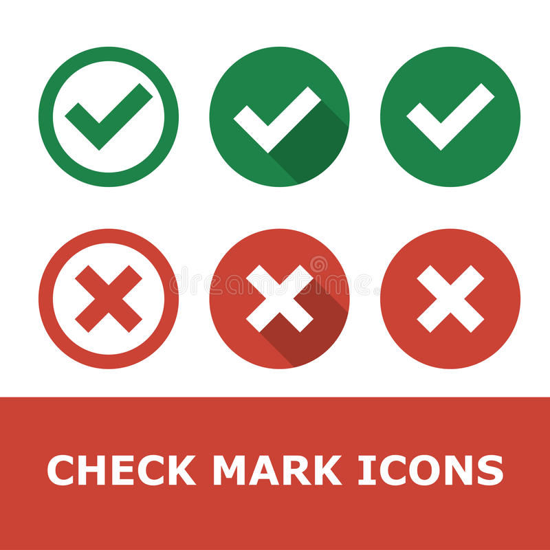 Set of check marks royalty free illustration