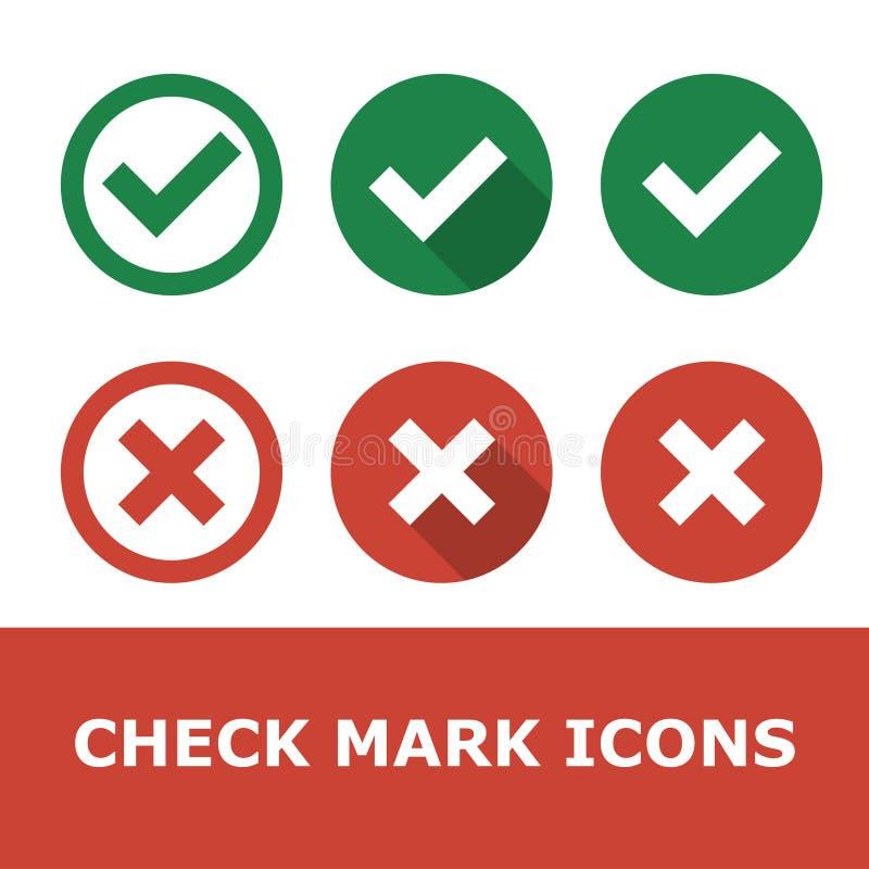 Set Checkmarkierungen lizenzfreie abbildung