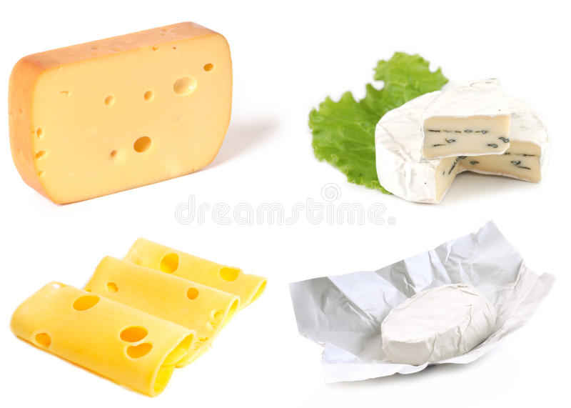Set of cheeses royalty free stock images