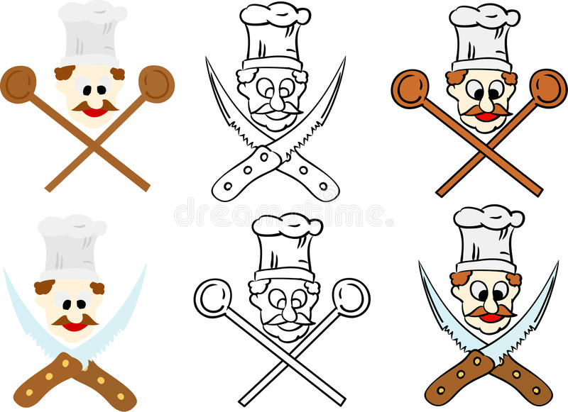 Download Set of chef stock vector. Illustration of cook, line - 10603775