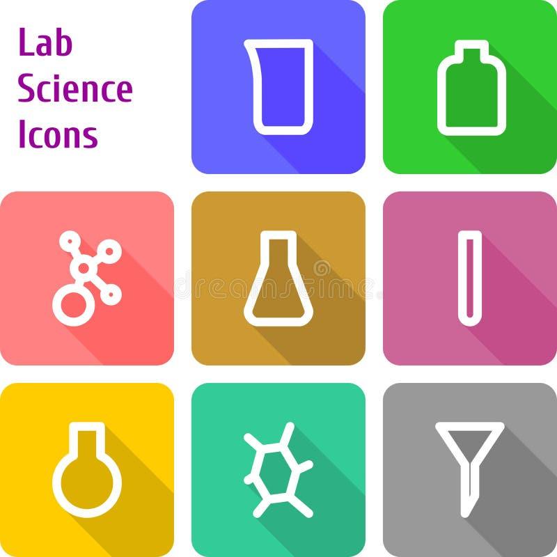 Set of chem lab icons royalty free stock image