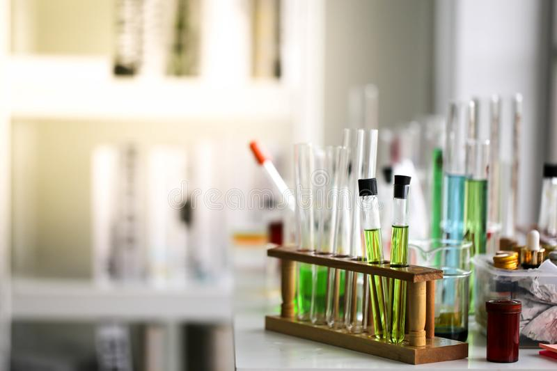 Set of Chemical tube development and pharmacy in laboratory,biochemistry and research technology concept. stock photo