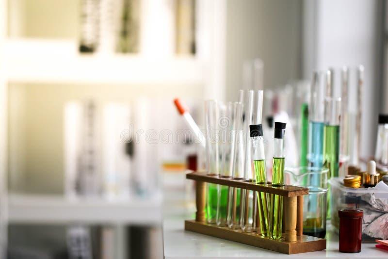 Set Chemiczny tubka rozwój, apteka w laboratorium i, bioc zdjęcie stock