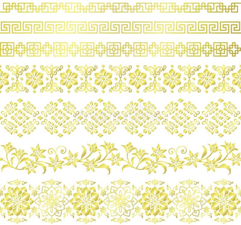 Set Chińskiego stylu granicy ilustracji