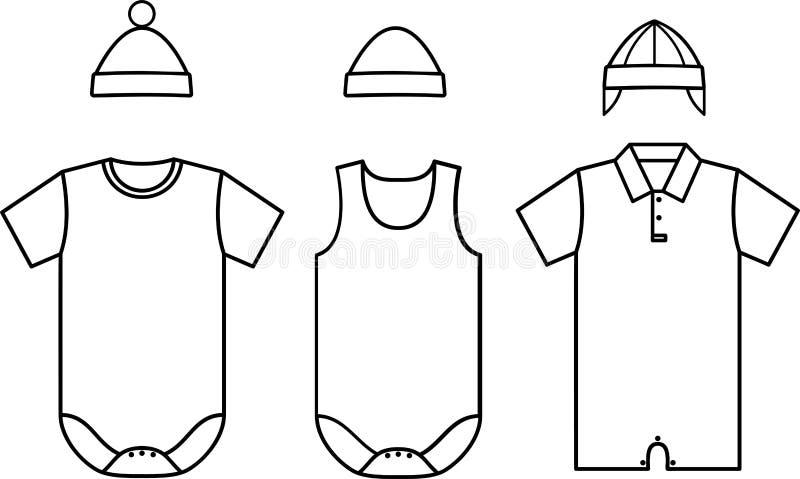 Set Of Child Baby Wear Vector Stock Vector Illustration