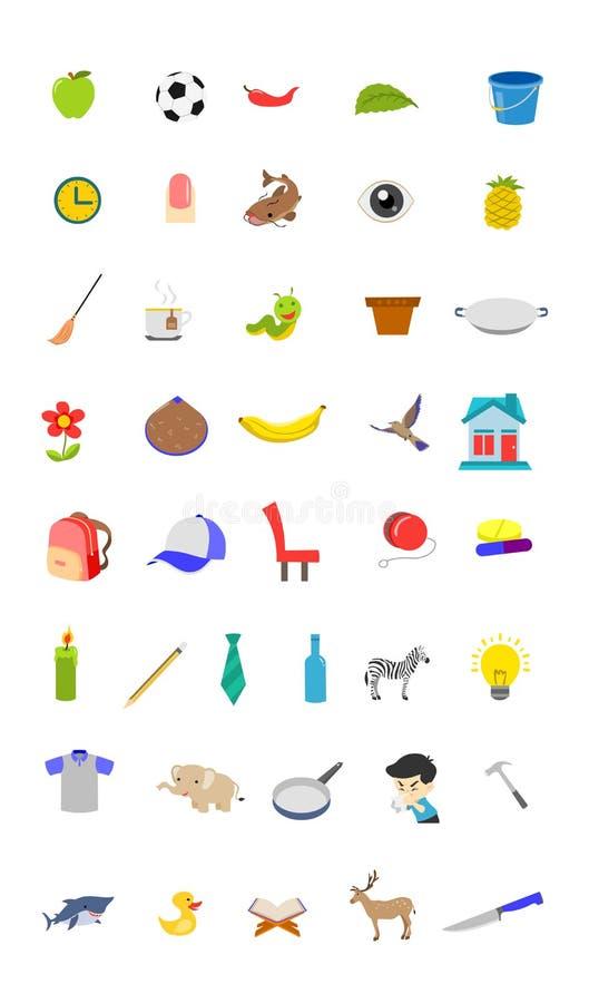 Set of child icons royalty free illustration