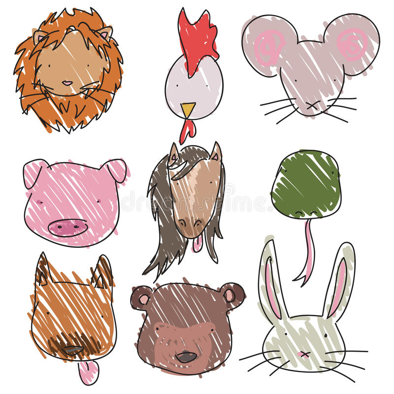 Download Animal Heads Royalty Free Stock Photos - Image: 30260698
