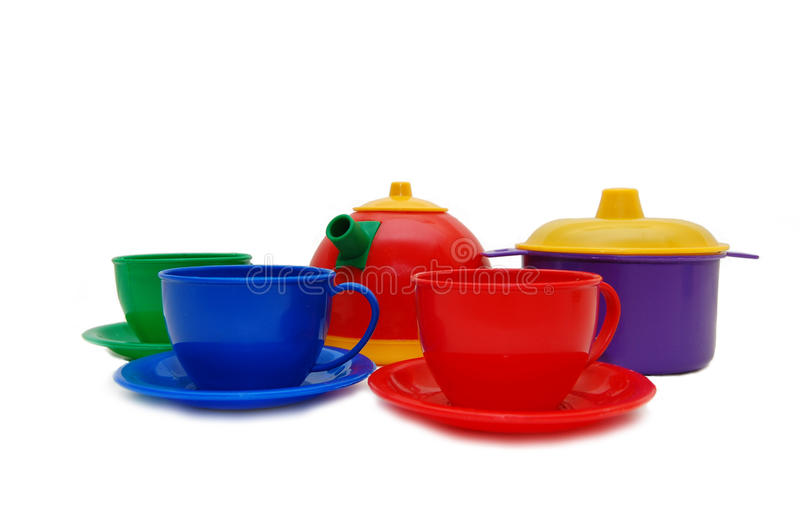 Set of children kitchen ware royalty free stock image