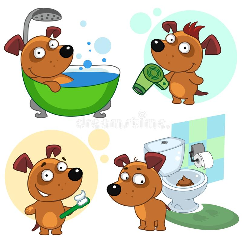 Icons with dogs part 48 royalty free illustration