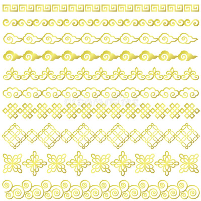 Set Of Chinese Style Borders. Stock Vector - Illustration of ...