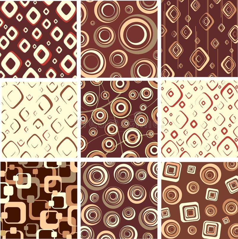 Set chocolate textures. royalty free illustration