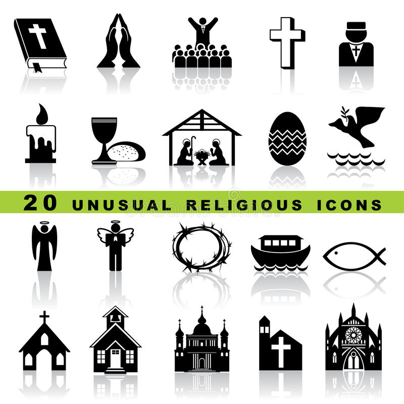 Download Set christian icons stock vector. Image of christus, congratulations - 27592751