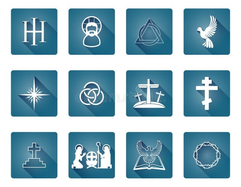 Set of Christian Icons stock illustration