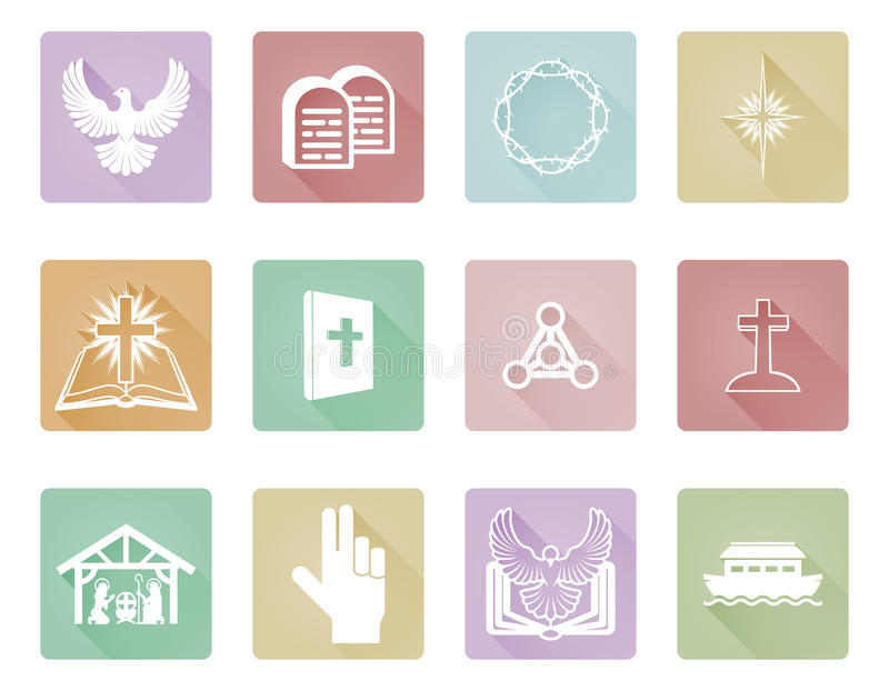 Set of Christian Icons vector illustration