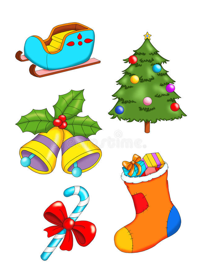 Set of Christmas 2 royalty free stock images