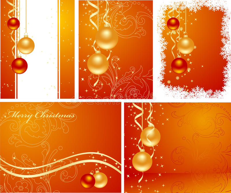 Download Set Christmas Backgrounds Royalty Free Stock Photo - Image: 16260275