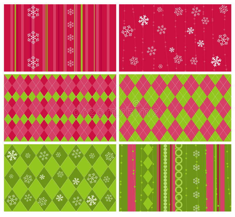 Download Set Of Christmas Backgrounds Stock Vector - Illustration of cold, card: 22121718