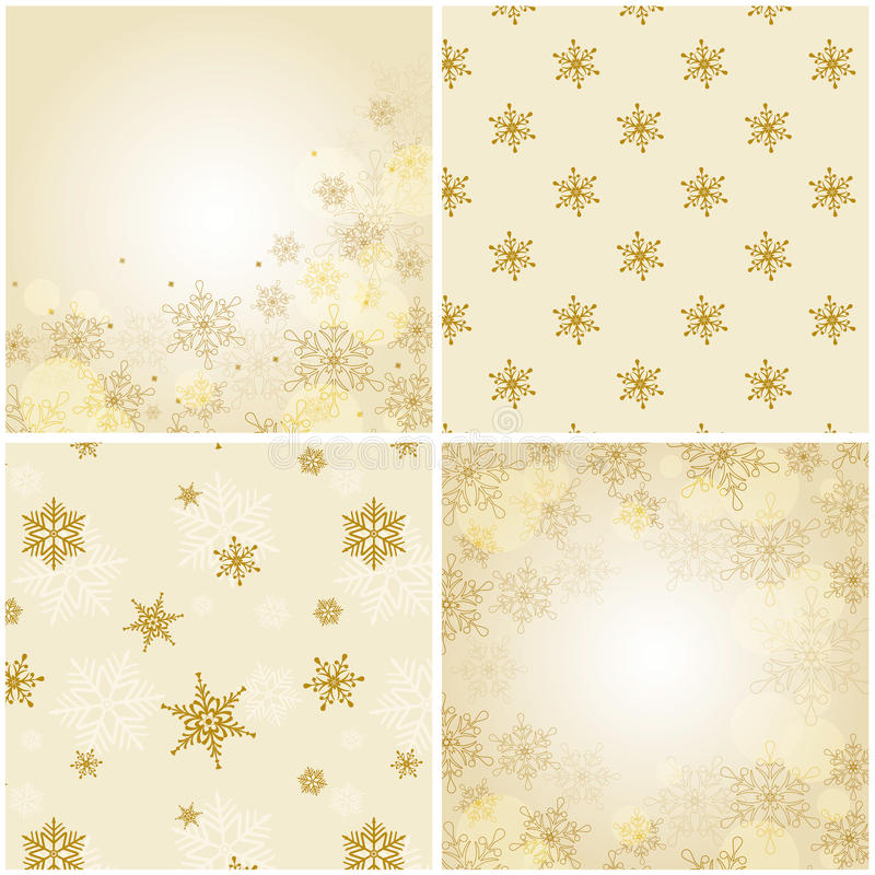 Download Set Of Christmas Backgrounds With Snowflakes. Stock Vector - Image: 34016256