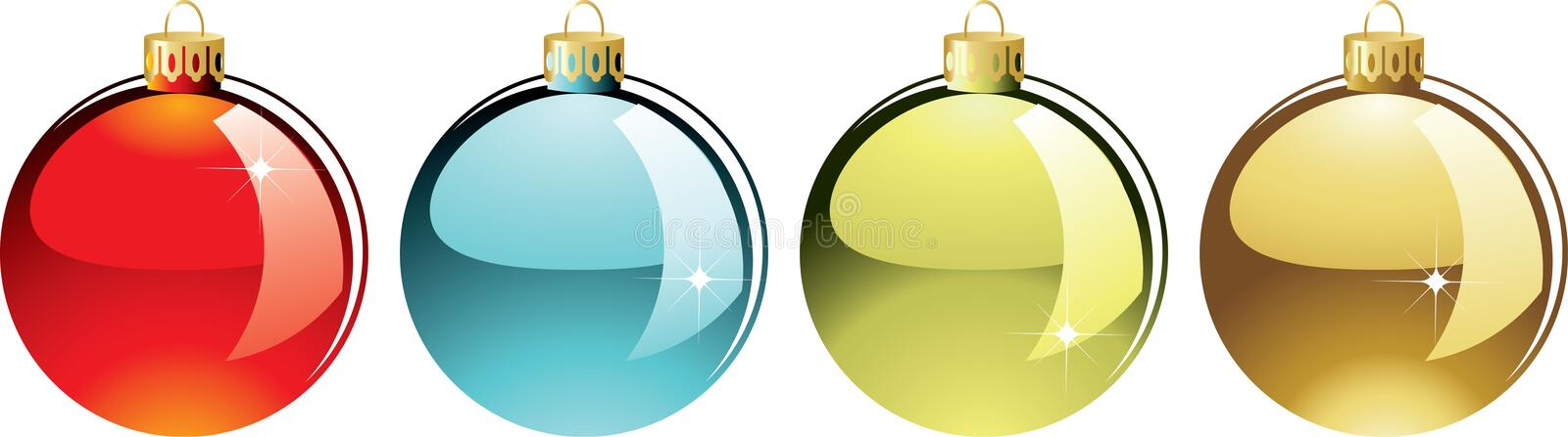 Download Set of christmas balls stock vector. Image of branch - 11868795