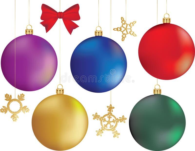 Set of Christmas balls stock image