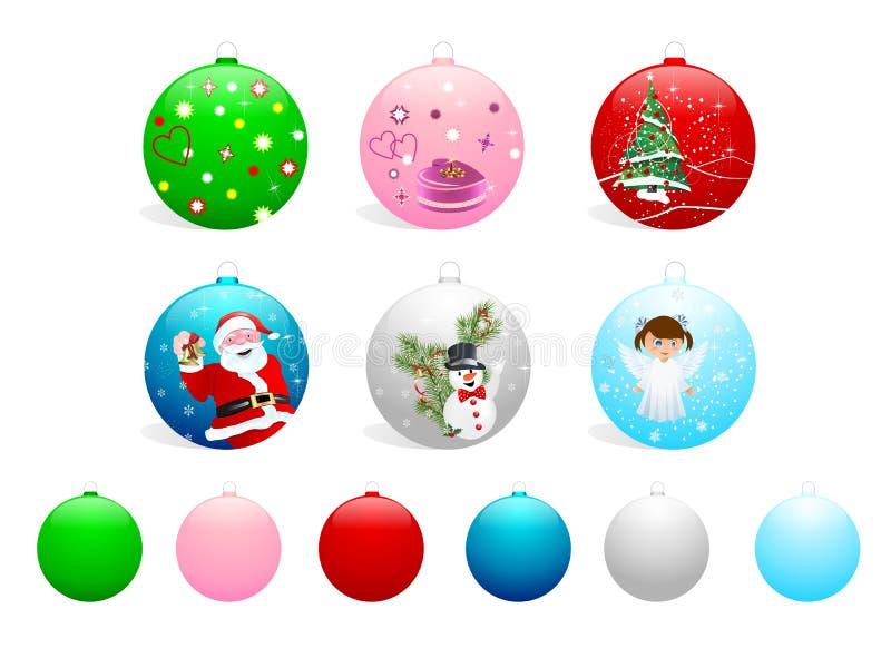 Set of Christmas balls, cdr vector royalty free stock photos
