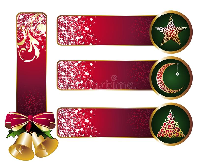 Download Set of christmas banners stock vector. Image of christmas - 17313702