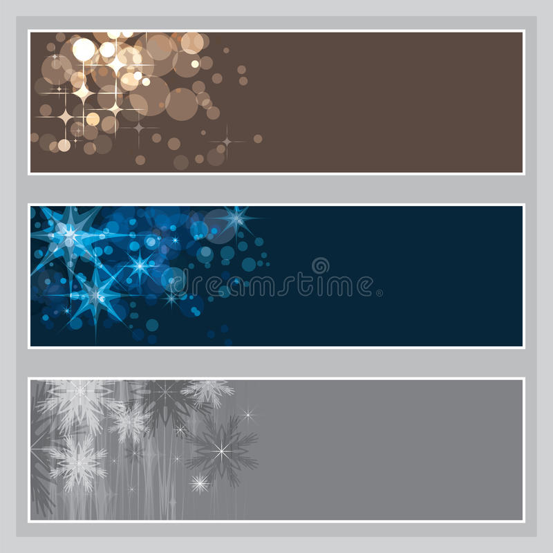 Set of Christmas banners royalty free illustration