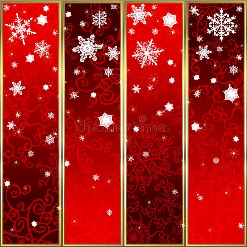 Set of christmas banners stock illustration
