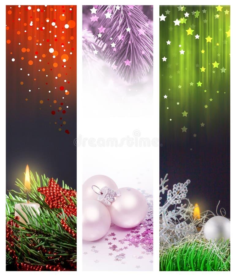 Set Christmas Banners Web Royalty Free Stock Photos